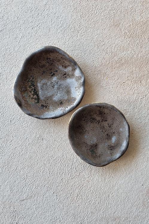 2 pcs bronze small plate