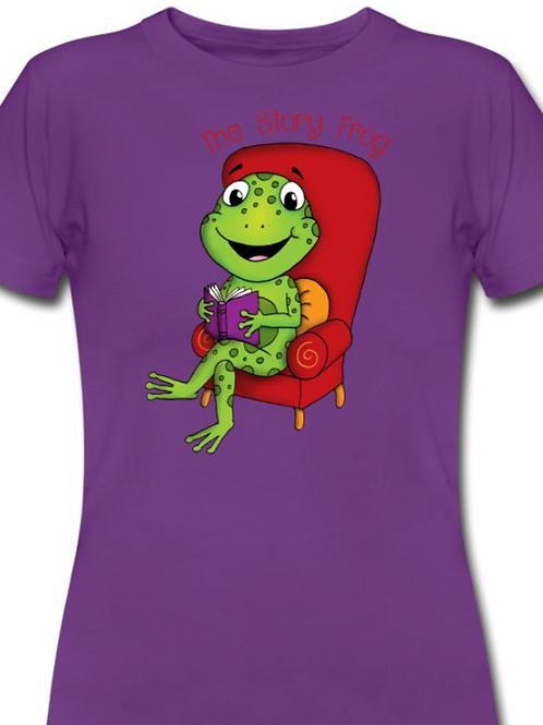 Story Frog Teacher T Shirt - Purple