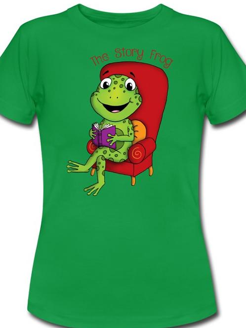 Story Frog Teacher T Shirt - Green