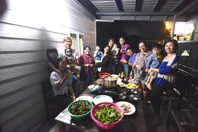 Celebration for the completion of roof covering over the Balcony