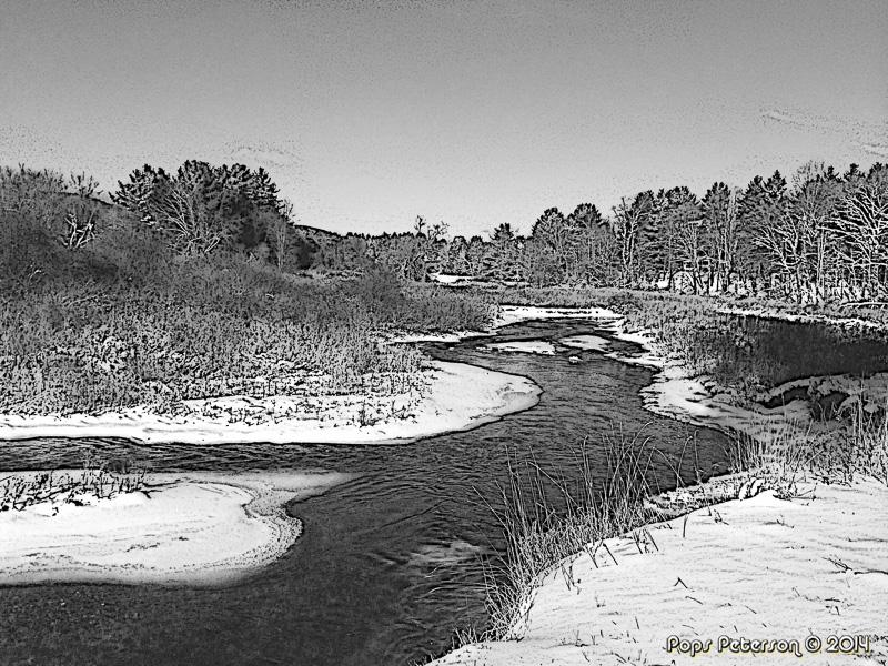 Williams River-Winter-BW