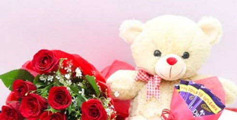 copy of Red Roses with Chocolates and Teddy Combo