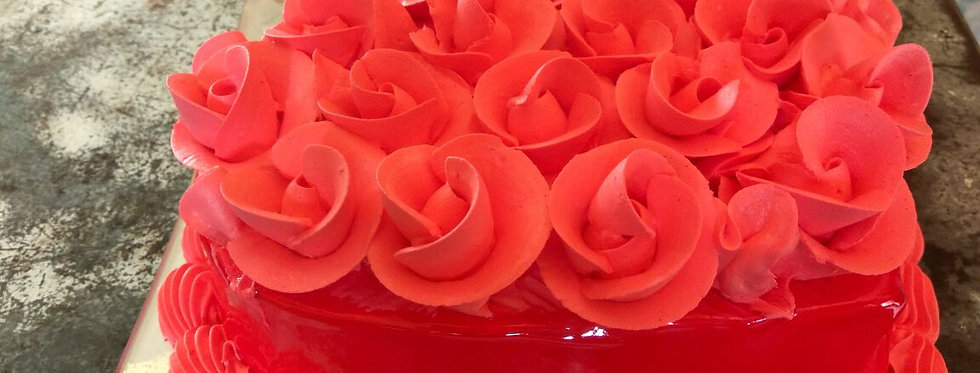 Red Rose Overload Cake