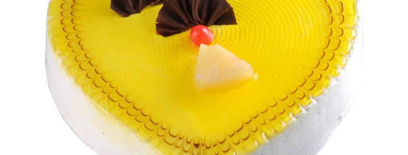 Pineapple Vanilla Heart Cake