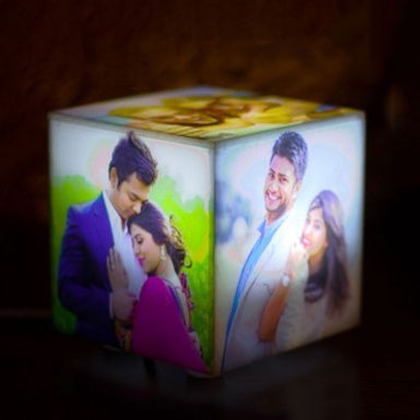 Customized Light-Up Picture Cube