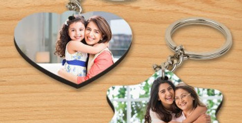 Customized Heart and Star Shaped Keychain Combo
