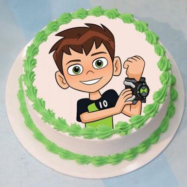 Ben 10 Photo Vanilla Cake