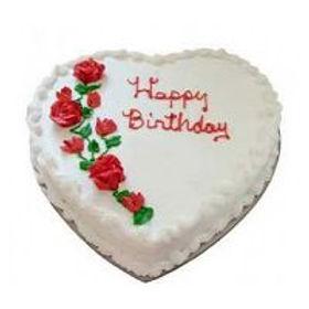 Vanilla In a Heart Cake