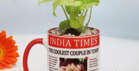 Newspaper Print Customized Photo Mug