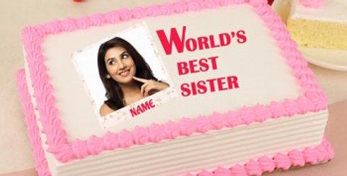World's Best Sister Photo Cake