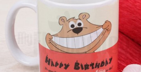 Happy Birthday Wide Smile Bear Cup