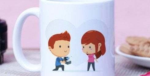 Cute Proposal Print Mug