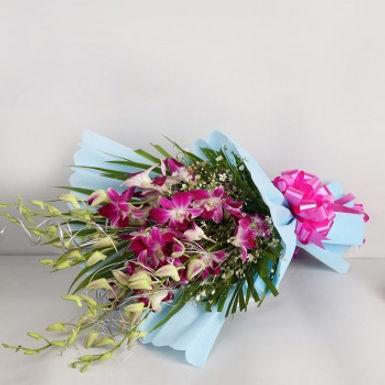 The Exotic Purple Orchid Bouquet