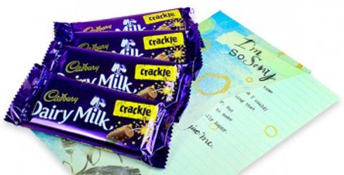 Dairy Milk Crackle Set and I'm Sorry Card