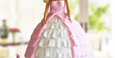 Barbie Pretty in Gown Cake