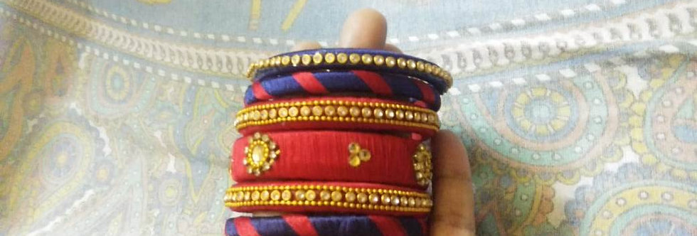 Glass Thread Bangles Multi color