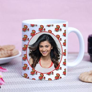 Customized Photo Mug with Cute Background Pattern