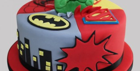 The Superheros are Here Cake