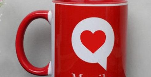 Heart Pop Up Customized Name Mug
