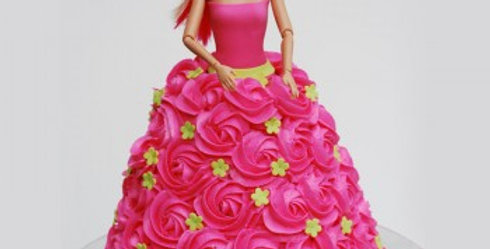 The Barbie Is Here Cake