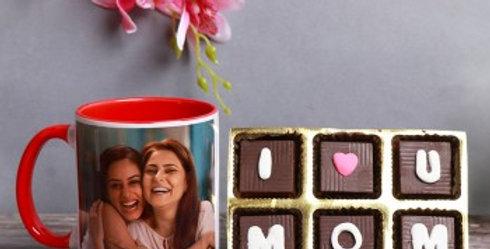 The 'I <3 U Mom' Chocolates and Customized Mug Combo