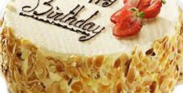 Naughty Nutty Vanilla Cake
