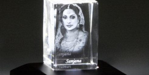 Customized Photo Glass Cube/Cuboid Lamp