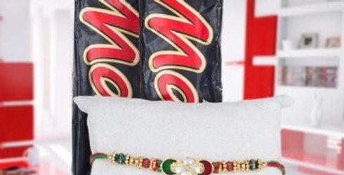 Double Mars Chocolate and Single Rakhi Combo
