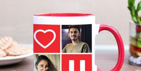 ❤️ U Mug with Photos Customized