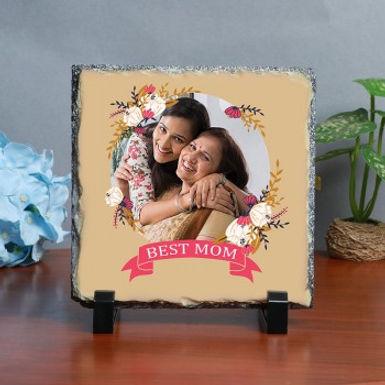 Fancy 'Best Mom' Design Photo Frame