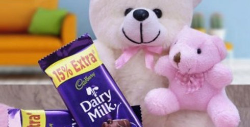 Teddy and Dairy Milk Duo Combo