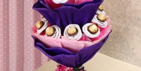 Double Decked Ferrero Rocher Bouquet