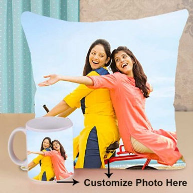 Customizable Photo Cushion and Mug Combo