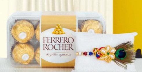 Big Ferrero Rocher Box and Single Rakhi Combo