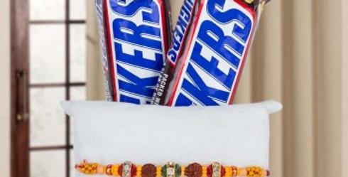 Double Snickers and Single Rakhi Combo