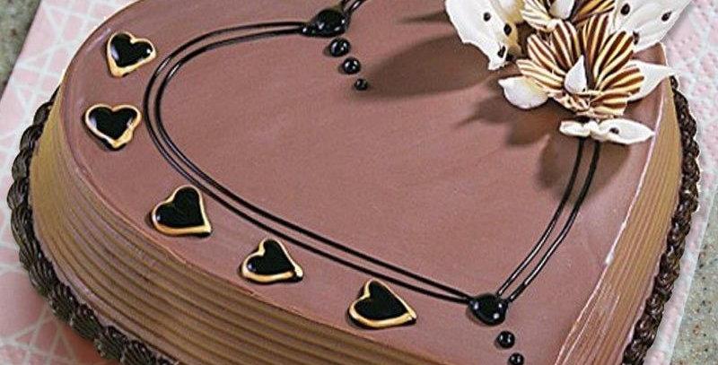 Heart Shaped Coffee Cake