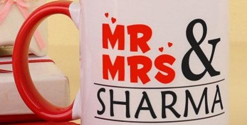 Customized Couple Name and Date Mug
