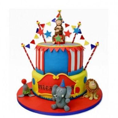 Carnival Fondant Cake