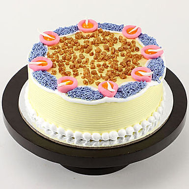 Diya Theme Butterscotch Cake- 1 Kg