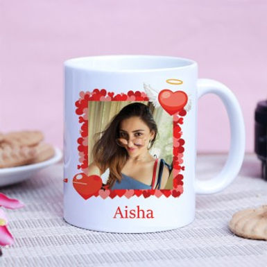 Heart Frame Customized Photo Mug