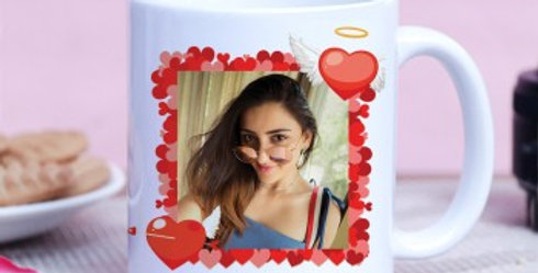 Heart Frame Customized Photo Mug