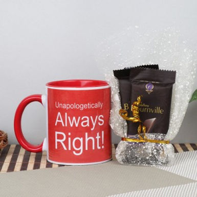 Unapologetically Always Right Cup with Double Bourneville Combo