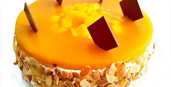 Mango Pulp Vanilla Cake