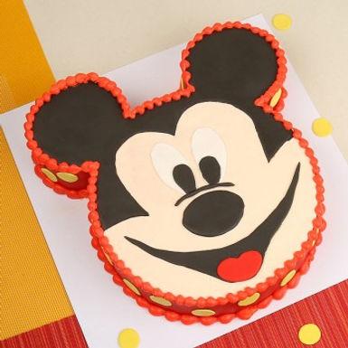 Mickey Mouse Cream Cake