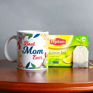Best Mom Ever Mug with Green Tea Combo