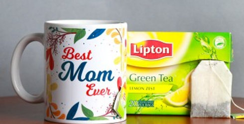 Best Mom Ever Mug with Green Tea Combo