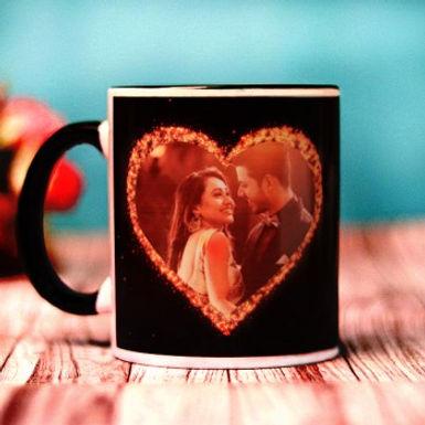 Customized Photo in Heart Mug