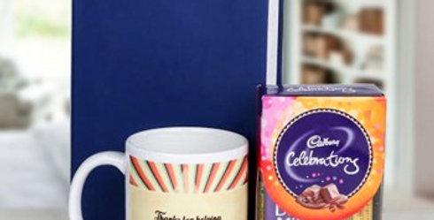 Diary, Cute Mug and Small Celebrations Combo