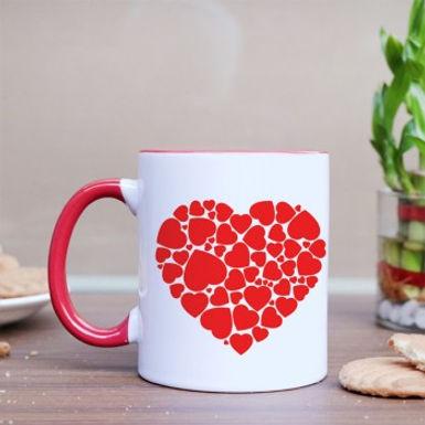 Multiple Hearts in one Big Heart Mug