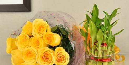 The Yellow Roses and Bamboo Combo